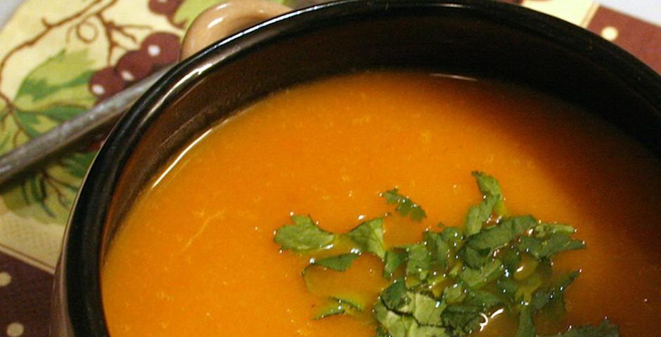Gembersoep met wortel