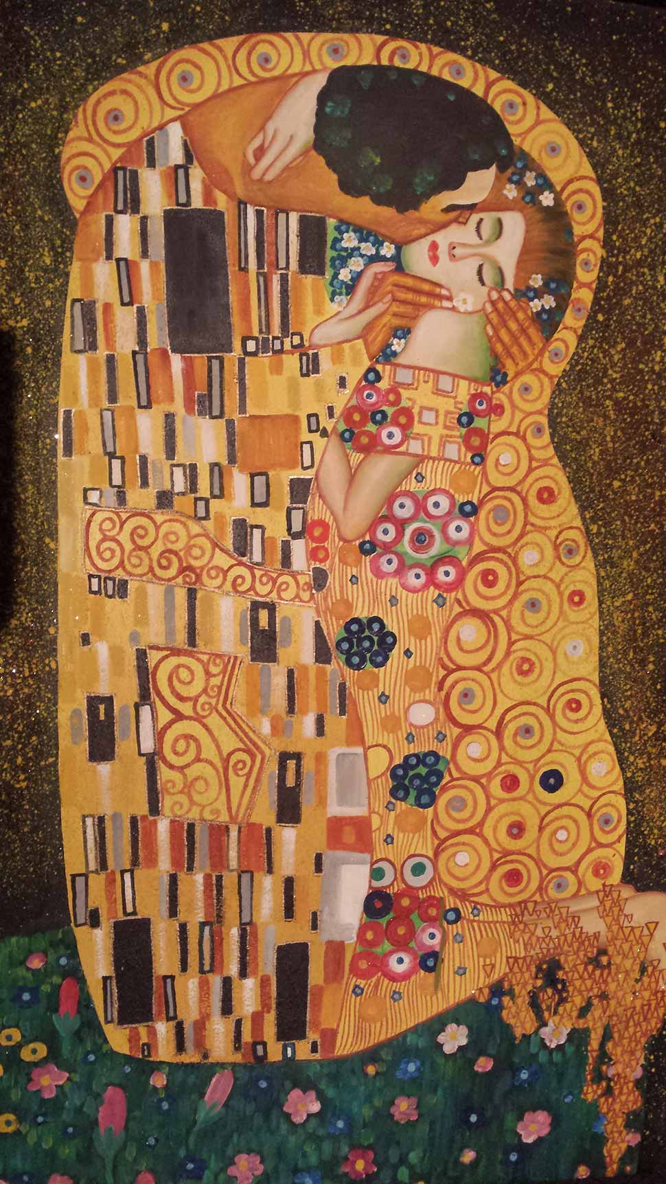 'De Kus' Gustav Klimt