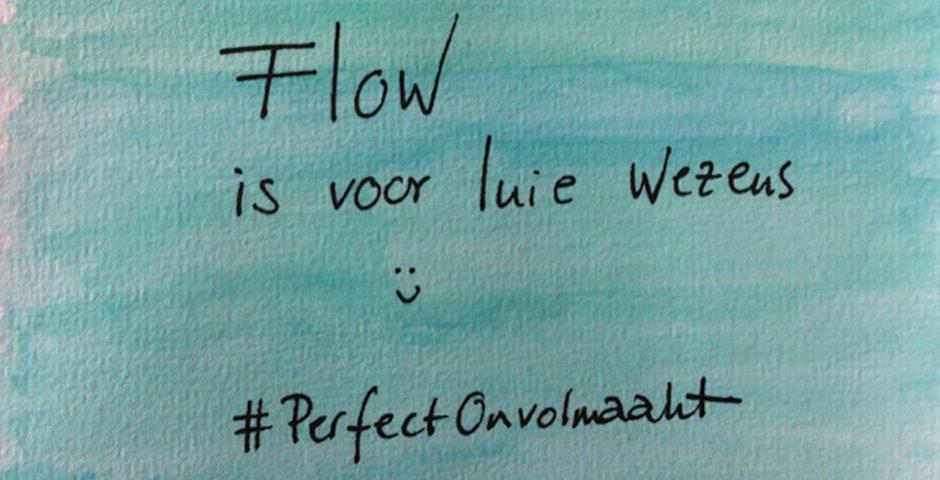 Flow is voor luie wezens