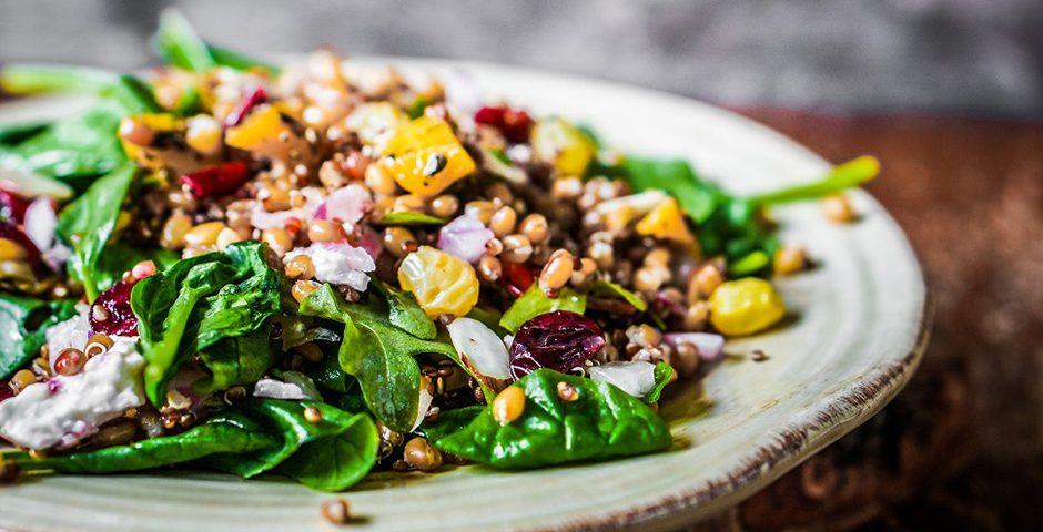Forel met quinoa en groenten