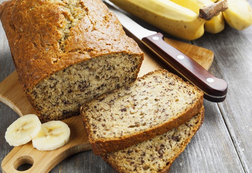 Bananenbrood met kwark