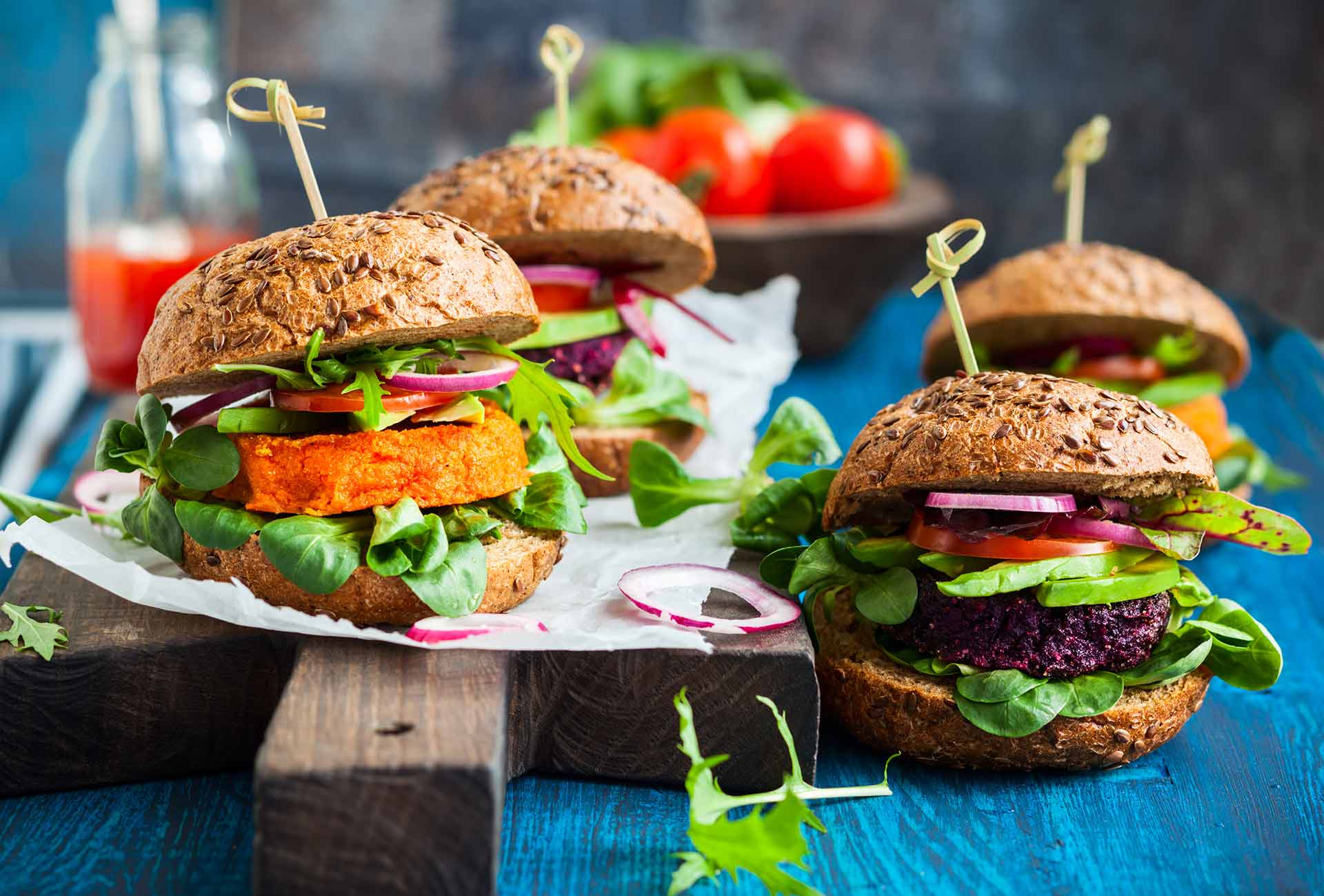 Vegan bietenburger
