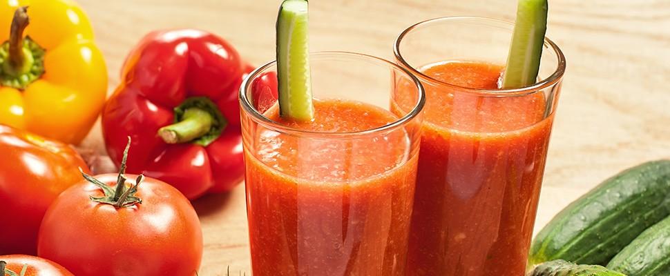 Smoothie met paprika en tomaat