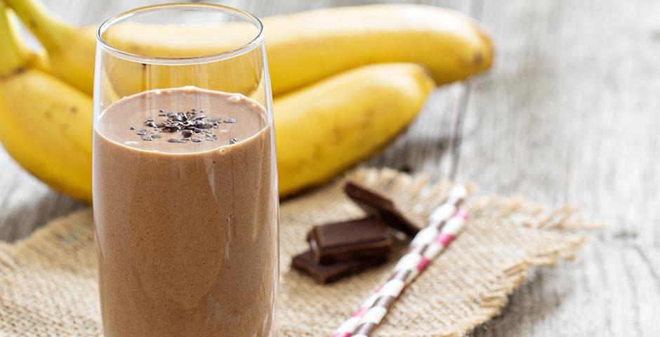 chocolade smoothie als onbijt