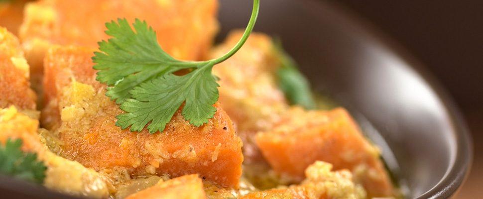 Lekker! Curry met zoete aardappel